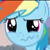 Rainbow Dash Crying icon by coconuts777