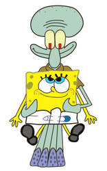 Baby Spongebob and Squidward by coconuts777