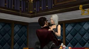 Ratland and Amanda in bar 2