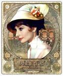 Audrey Hepburn - Art Nouveau II