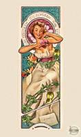 Gil Elvgren Tribute Art Nouveau Sexy Pin up