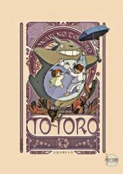 My Neighbor Totoro  - Art Nouveau