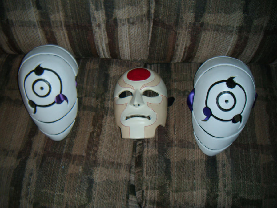 Amon 20 and Obito Rinnegan madara masks by Angelsrflamabl ...