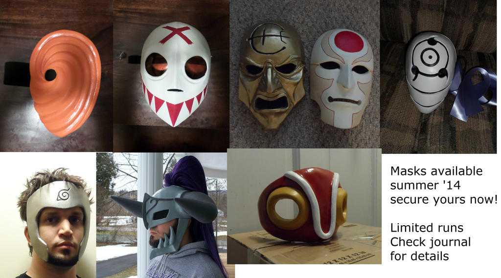 Summer '14 masks by Angelsrflamabl