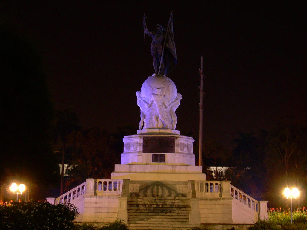 Panama City Statue at Night
