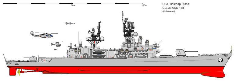USS Fox naval gunfire support ship