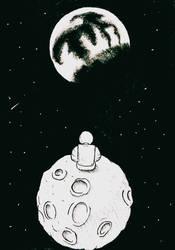 #Inktober2021 18-Moon