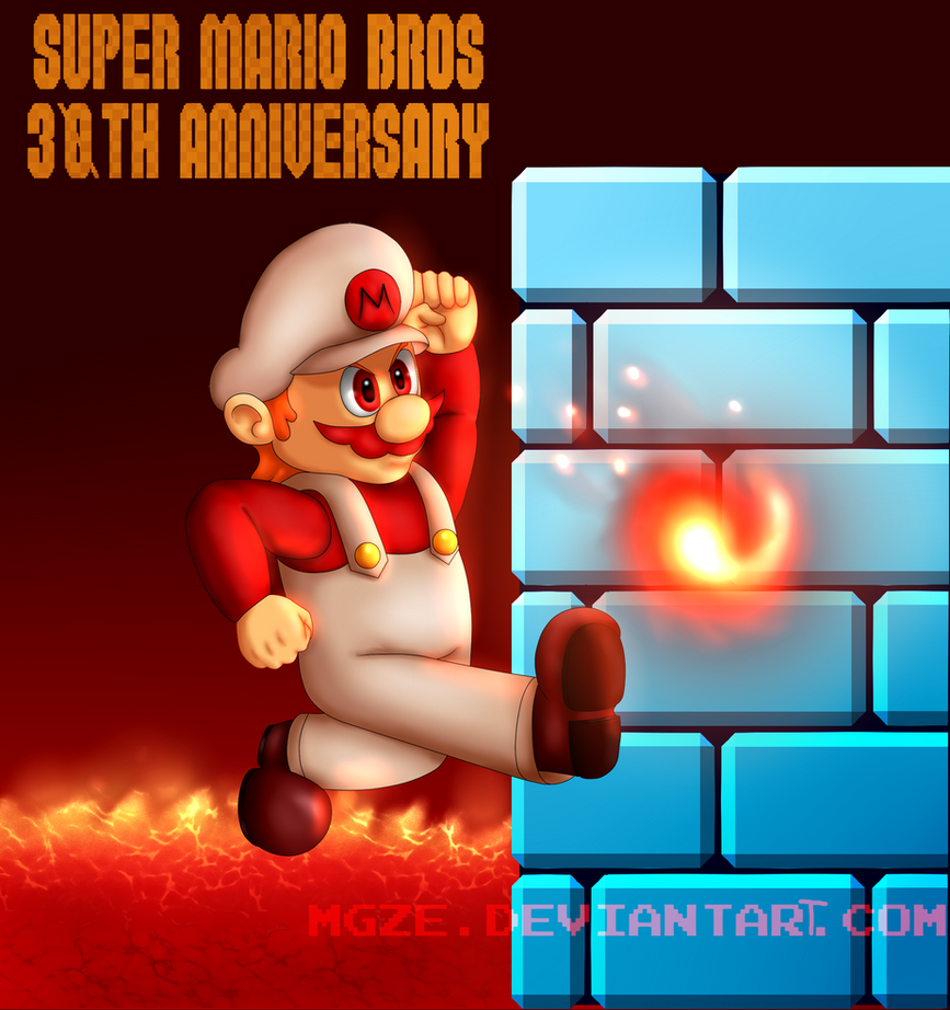 Super mario bros th anniversary by mgze on deviantart