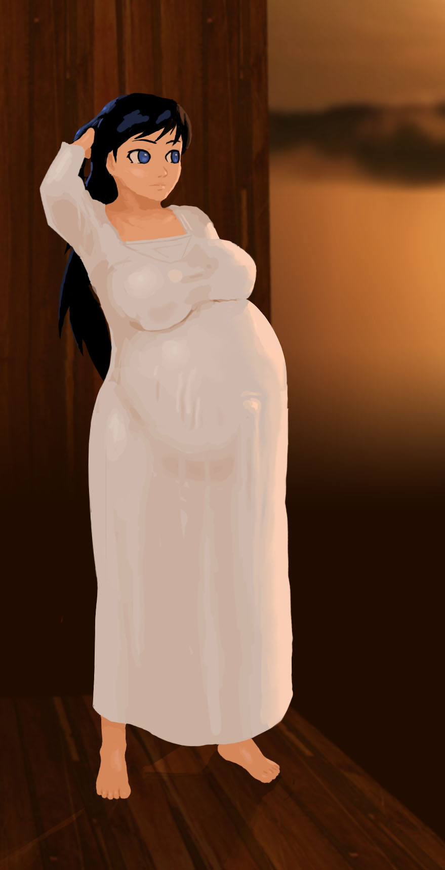 commission - preg - Aisha's gown by Zareste