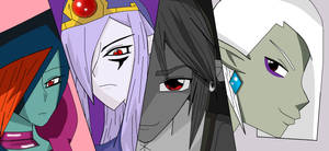 Four villains of darkness