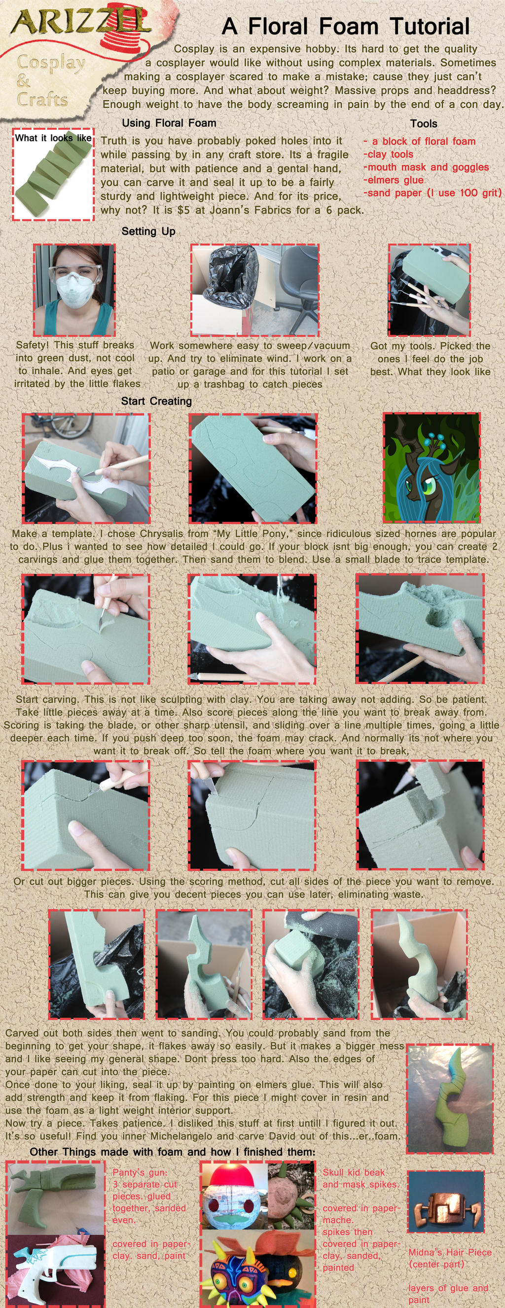 Cosplay with Floral Foam Tutorial by Arizzel on DeviantArt