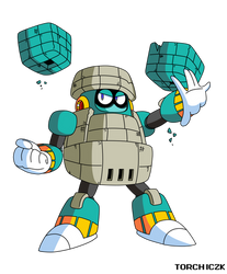Block Man in Classic MM style