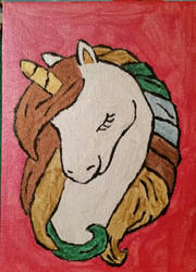 Small Unicorn Painting by CraftyFlareon
