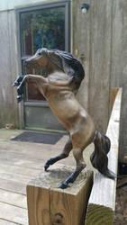Classic  Breyer Rearing Stallion by CraftyFlareon