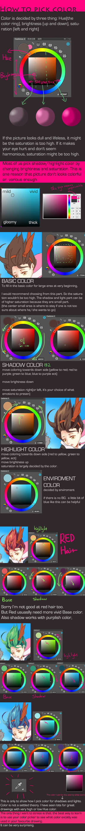 How to pick color for shadow and highlight