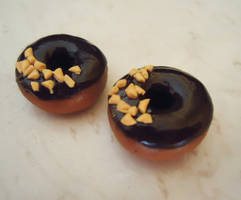 Nutty chocolate donut charms