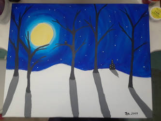 Paint Bar Art: Winter Night by KasumiShino