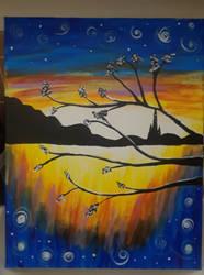 Paint Bar Art: Sunset by KasumiShino
