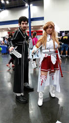 Comicpalooza 2015 - Kirito and Asuna cosplay by Imperius-Rex