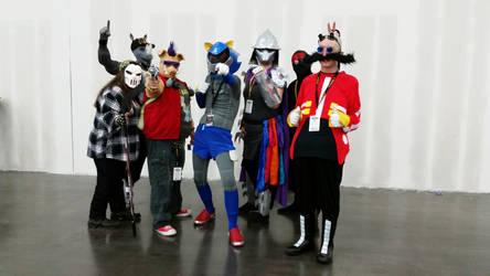 Comicpalooza 2015 - TMNT and Sonic cosplay group