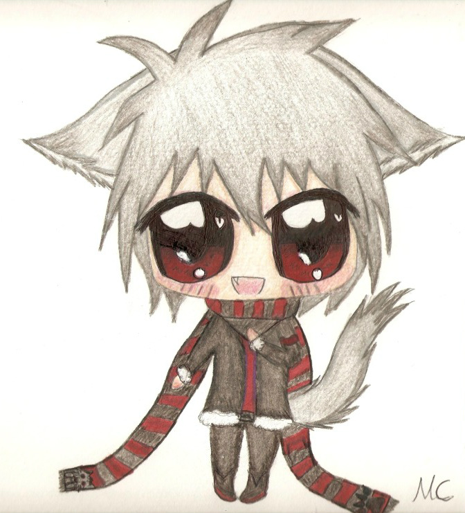 Chibi Baby Wolf Boy-Auction-Closed By Kiyoshi-seishin On