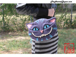 Needle Felted Cheshire Cat Purse