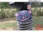 Needle Felted Cheshire Cat Purse