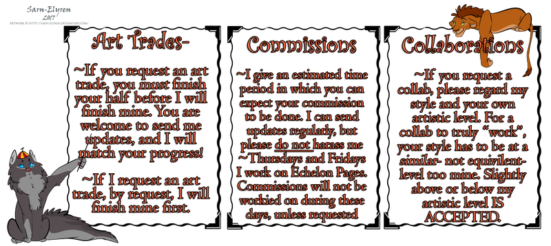 Trade, Commissions, and Collab Rules (Pleez read!)