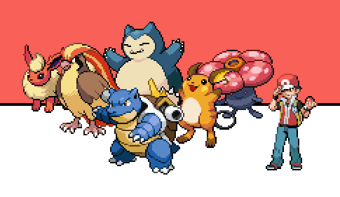 my pokemon red team by rcrdcat on deviantart