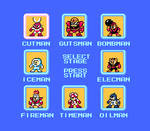 MM1 Stage Select (With 8 Robot Masters)