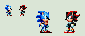 Sonic Mania - Classic Shadow by rcrdcat