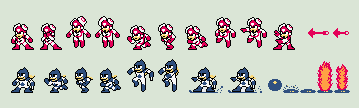 Classic Time Man and Oil Man Spritesheet by rcrdcat