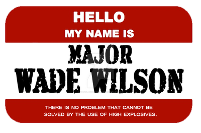 Hello my Name is Major Wade. by tangledinthread