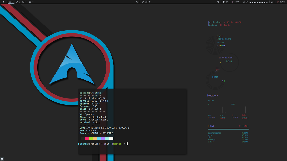Linux ArchLabs by picarda27