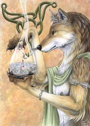 Celticpriest in bunt by AlphaKi
