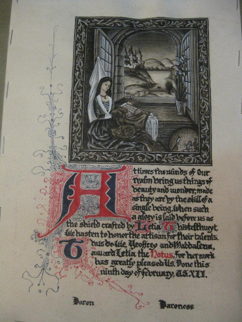 Letia's Award of the Notus by Merwenna