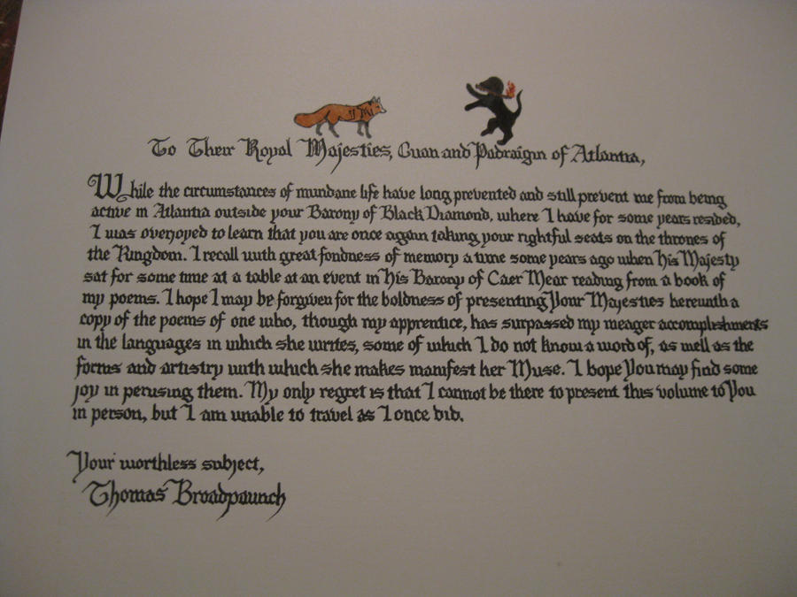 Master Thomas's Letter by Merwenna