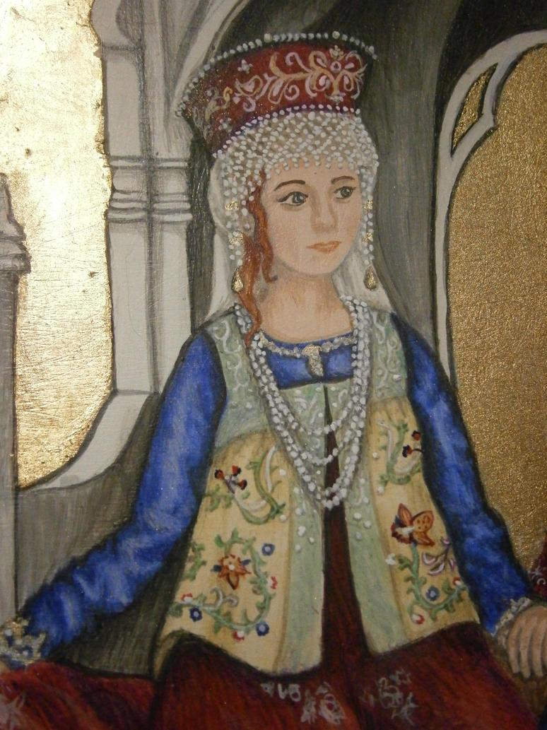 Ducal Triptych - Kalisa (Detail) by Merwenna