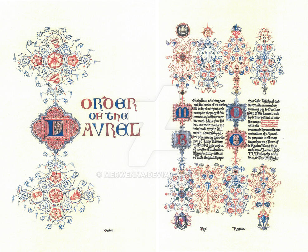 Order of the Laurel for Isemay the Nimble by Merwenna
