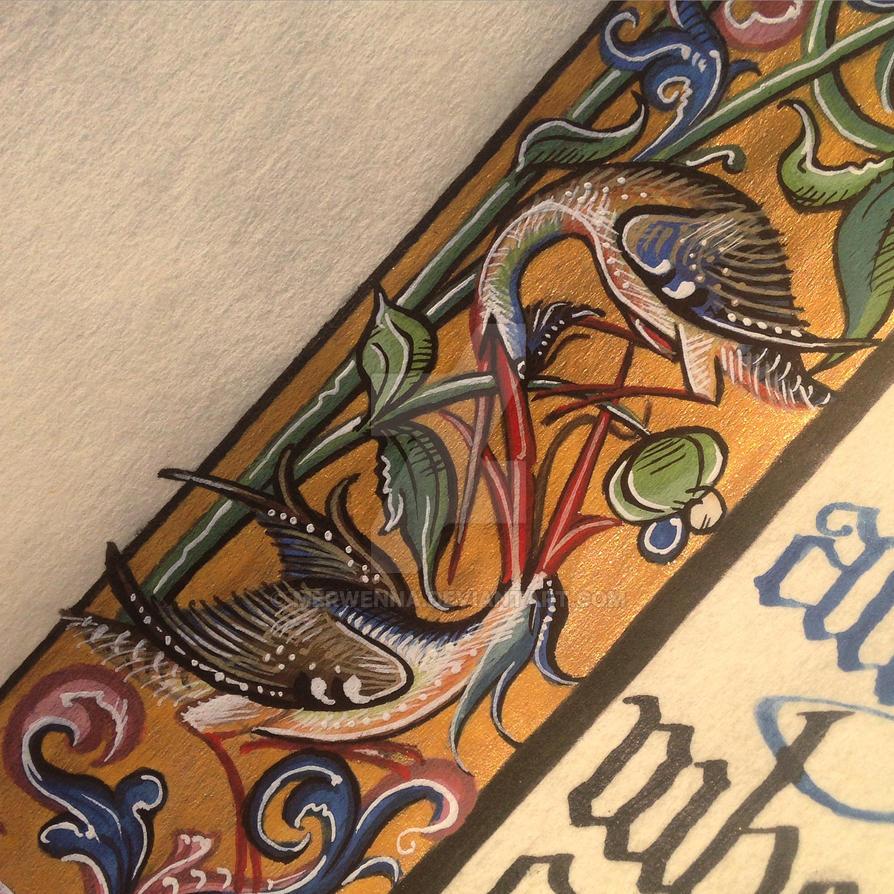 Detail of Birds by Merwenna