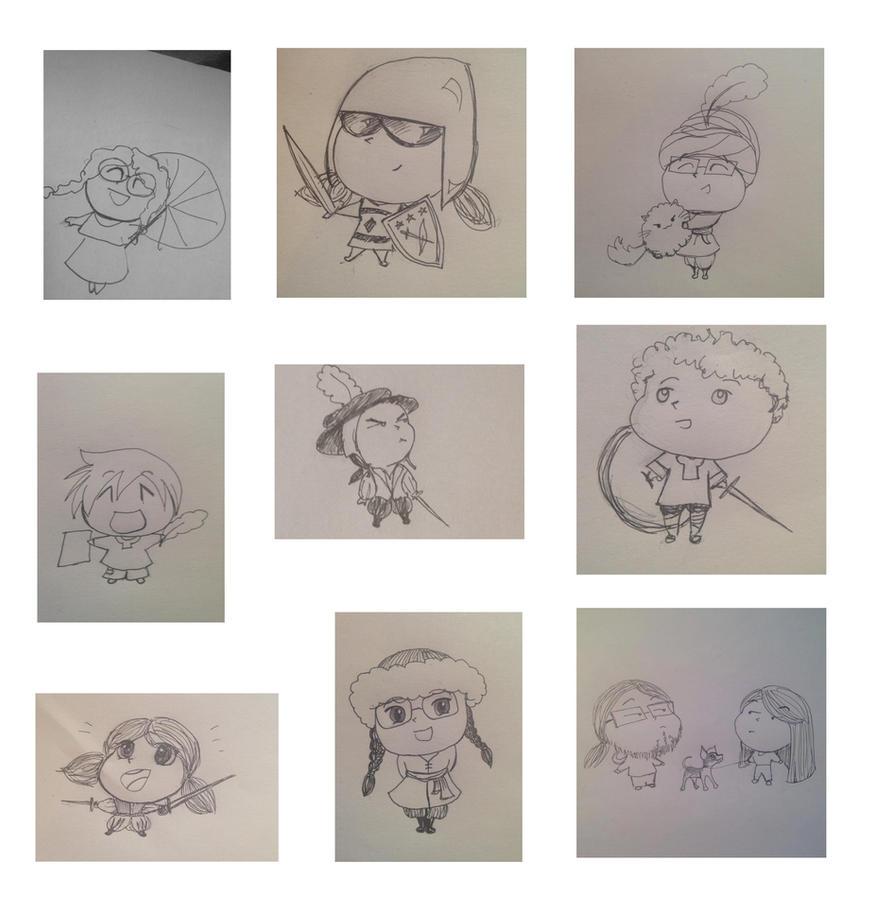 SCA Chibi Doodles by Merwenna