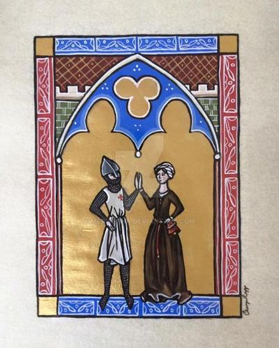 Templar High-Five by Merwenna