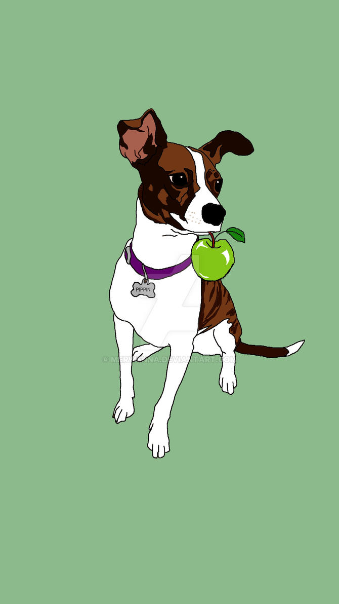 Puppy and Apple