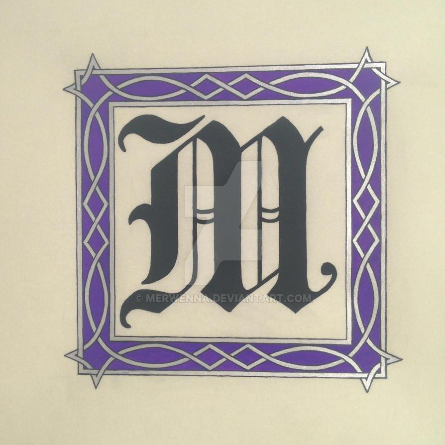 Illuminated M by Merwenna
