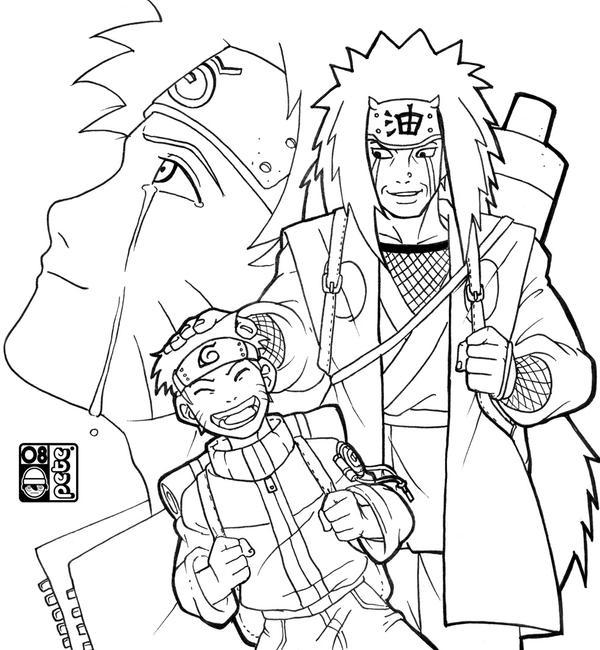 How to draw jiraiya for Jiraiya coloring pages
