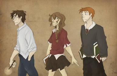 golden trio by floretwitch