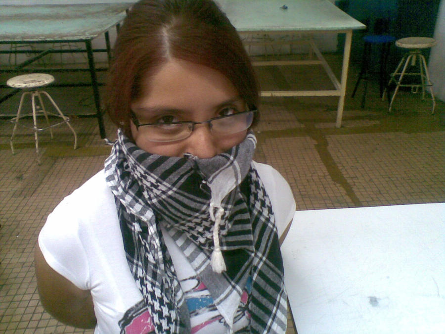 image gallery scarf gagged