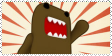 Domo Kun Stamp by Fun-sized-Redhead