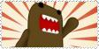 Domo Kun Stamp by Fun-sized-Redhead