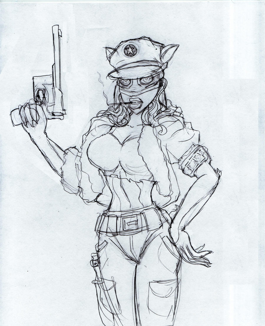 SteamPunk Furry Doodle by